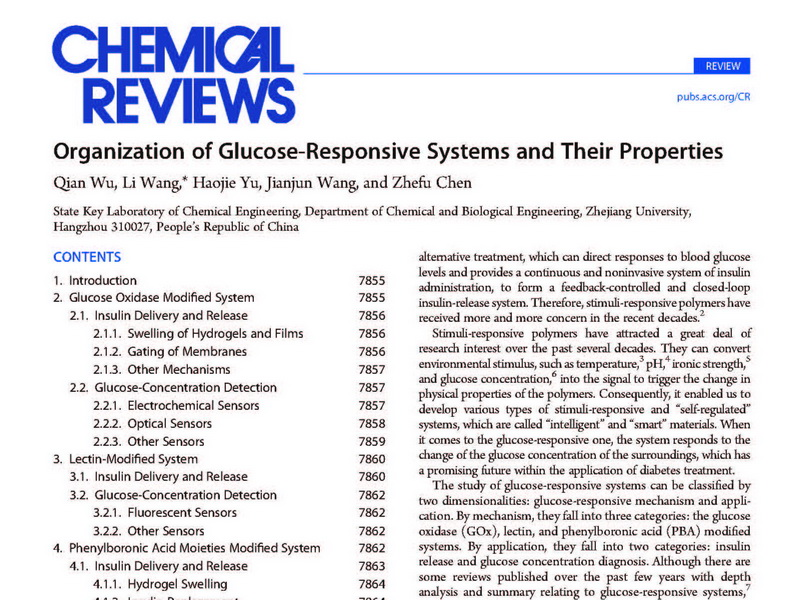 The master student Qian Wu published a paper on Chemical Reviews