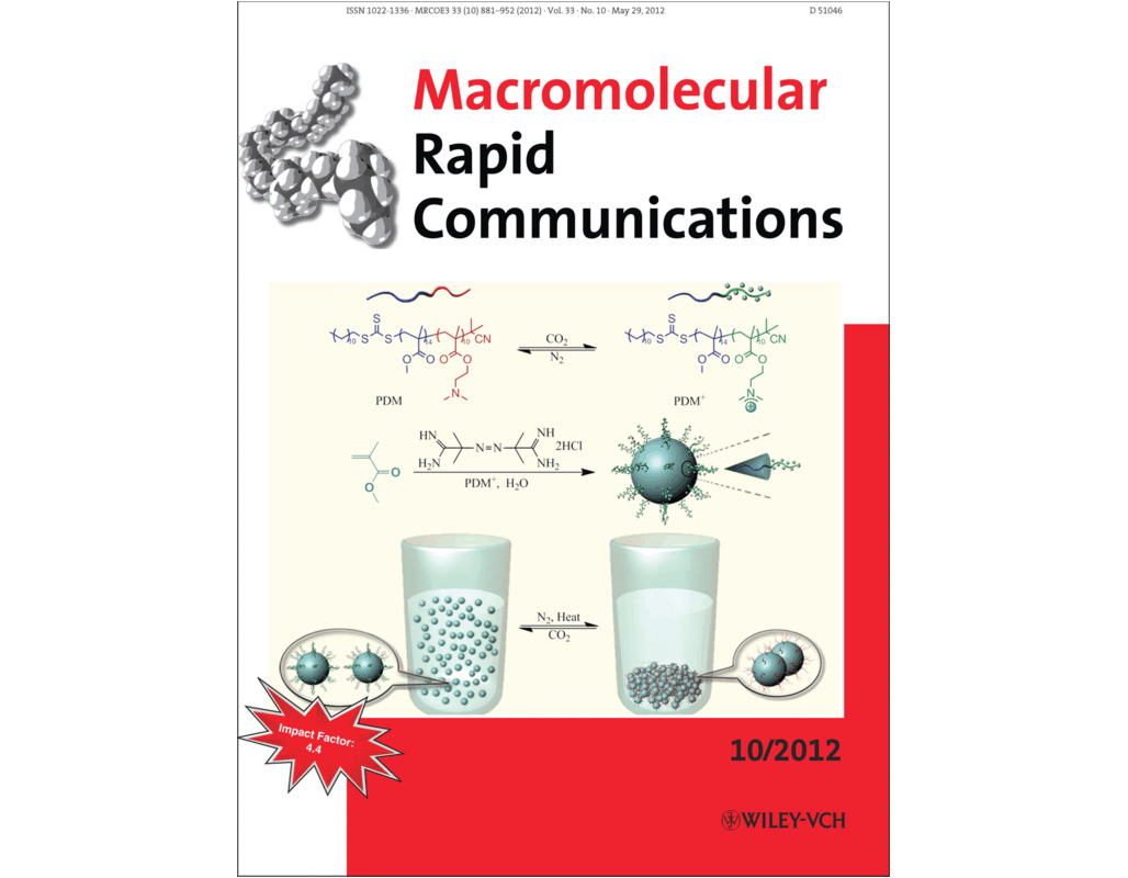 王文俊教授研究组在《Macromolecular Rapid Communications》上发表封面文章