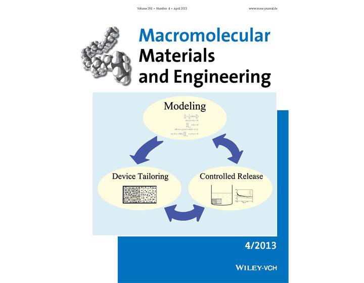 王文俊教授等在《Macromolecular Materials and Engineering》上发表封面文章